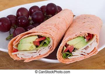 white meat wrap sandwich