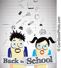 Back to school - Vector illustration with Back to school...