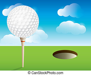 Golf Background - A nice illustration for a golf tournament...