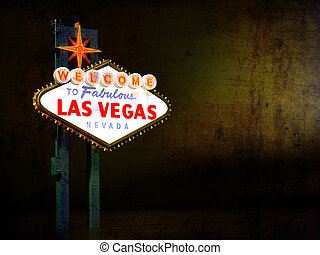 Las Vegas Sign at Night with Texture