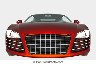 sport car - Orange sport car solated on white background