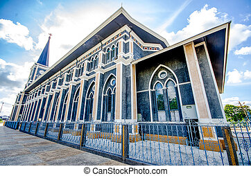 Old church of Roman Catholic Christianity in chantaburi...