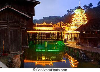 Zhaoxing Town, Liping County, Guizhou, China. Zhaoxing Dong...