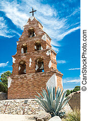 Spanish Mission Campanario - Historic belltower at a Spanish...