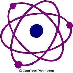 Atom symbol. Vector.