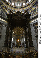 St Peters Basilica, Rome - Interior of Saint Peters...