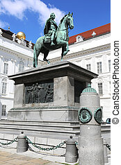 Monument of Emperor Joseph II at the Josefsplatz in Vienna,...
