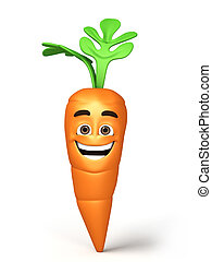 3d render happy carrot - 3d render cartoon carrot collection...