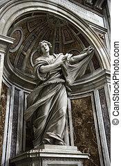 são, Veronica, estátua