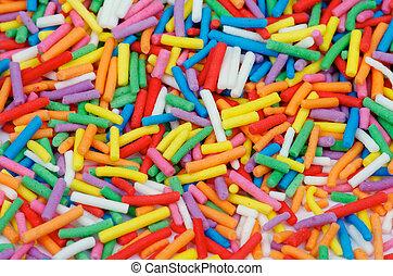 """Sprinkles """"Jimmies"""" - Background of Multi Colored Sprinkles..."""