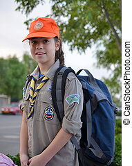 Israel Girl Scout on the way to summer camp - An Israel Girl...