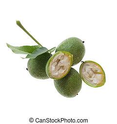 fresh green walnut