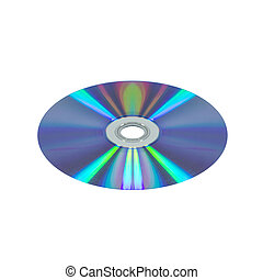 CD DVD photo isolate on white background