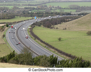 Chilterns, Oxfordshire M40 motorway