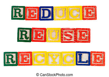 Reduce Reuse Recycle - Concept image of reduce, reuse,...