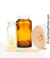Injury drugs - Medicinal tools for injury, bandage, patch...