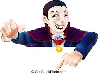 Halloween, dessin animé, Dracula, pointage