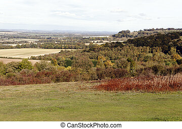 Cotswolds view from Christmas Common, Oxfordshire, October...