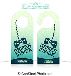 Door knob hangers - Set of gaming related door knob hangers