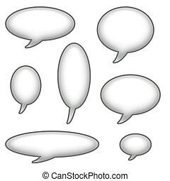 Caption Bubbles Clip Art - Caption Bubbles Isolated on a...