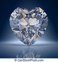 Diamond heart composition