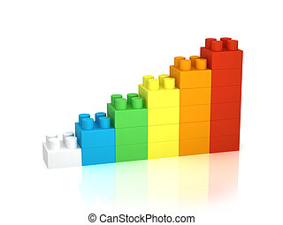 Building blocks - Achievement chart from building blocks