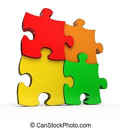 Puzzle, puzzle, coloré