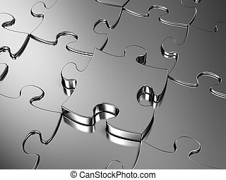 Jigsaw puzzle - Blank metal Jigsaw puzzle