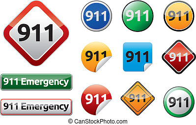 Emergency call 911 - Differently Emergency call 911 isolated...