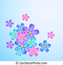 Greeting card with paper flower.