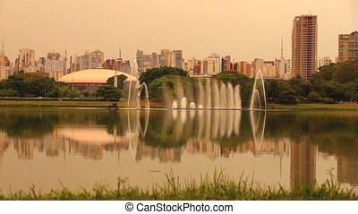Ibirapuera Park in Sao Paulo - A fountain in Ibirapuera Park...