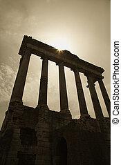 Roman Forum, Rome. - Architectural structure in the Roman...