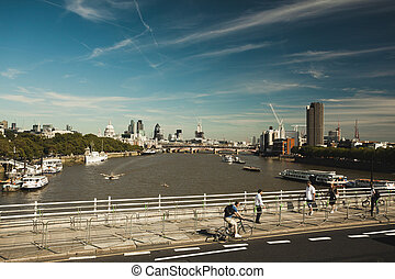 The River Thames - View of london and the River Thames