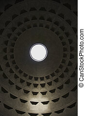 Pantheon, Rome, Italy. - Interior dome in Pantheon, Rome,...