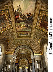 Ceiling fresco, Vatican. - Ceiling fresco in the Vatican...