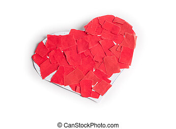 Love sign - Red papper broken of love sign