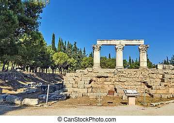 octavia temple in ancient corinth - ruins of Octavia temple...