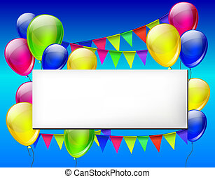 Background with color balloons