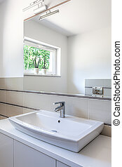 Bright space - washbasin - Bright space - white washbasin...