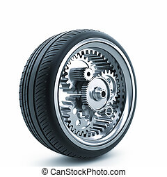 Mechanical drive wheel - The concept of mechanical drive...
