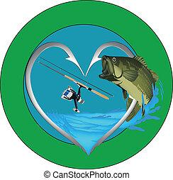 adhesive fishing - with fish sticker