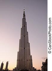 Burj Dubai - World tallest skyscraper Burj Dubai at dusk