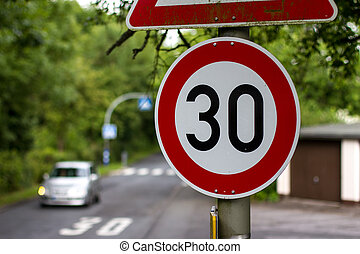german 30 speed sign