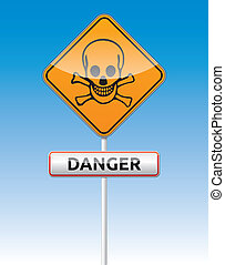 Danger skull traffic