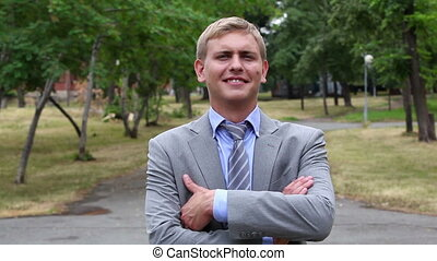 Confident businessman - Portrait of a young businessman...