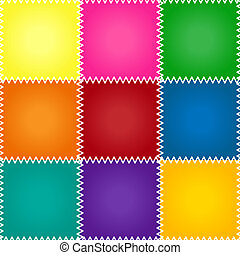 Seamless patchwork or quilt - Seamless colorful patchework...