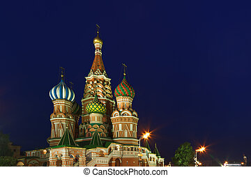 Saint Basils Cathedral in the night