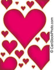 hearts bg - An illustration of a red heart background