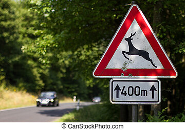 german deer sign