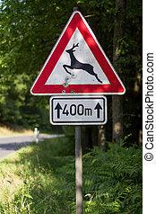 german deer sign